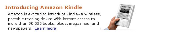 Original Amazon Kindle Ad