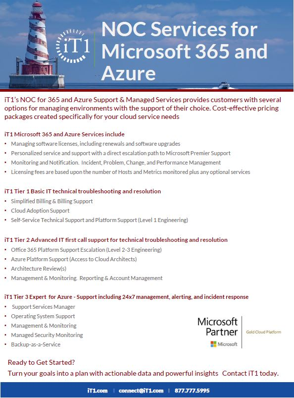 iT1 NOC Services for Microsoft 365 and Azure
